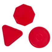 Pucks voor airhockey assorti 63mm (per 3)